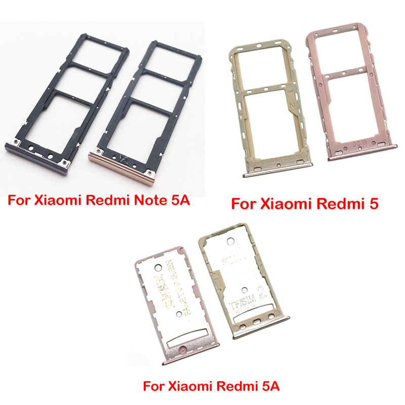 New SIM Card Tray Socket Slot Holder Adapters Replacement Spare Parts For Xiaomi Redmi 5 Note 5A Sim Cards Adapters