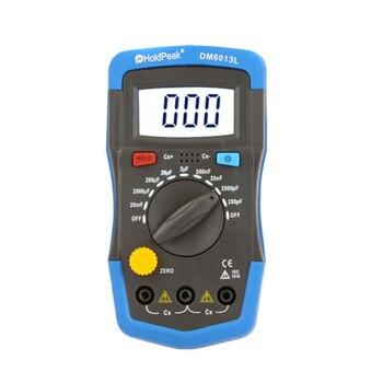 Nuevo medidor de capacitancia Digital de mano DM6013L capacimetro PF ~ 20mF capacitancia electrónica probador herramienta de diagnóstico