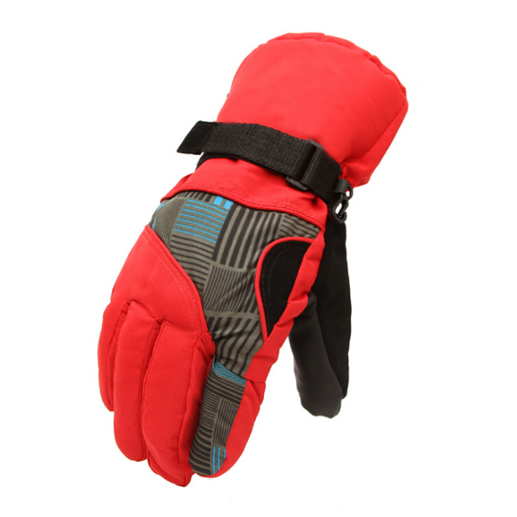 New Sale Winter Man Outdoor Sports Waterproof Thickening Climbing Skiing Gloves(Red)