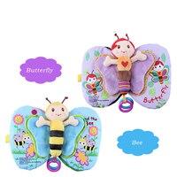 22 Cm Kawaii Butterfly Bee Musical Baby Cloth Books Soft Stuffed Animal Educational Baby Kid Toys