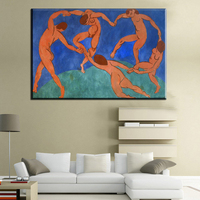 Xdr698 HD Printed Canvas Oil Painting The Dance By Henri Matisse On High Definition HD Canvas