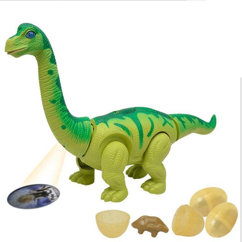 Dinosaur Robot Toy Games Electronic Lay Eggs Brachiosaurus  Walking Dinosaur Toys Pet Gift Glowing Virtual Pet Pop Gift