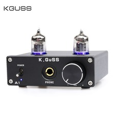 NEW K.GUSS A1 MINI 6J1 audio tube bile headphone amplifier NE5532 6K4 headphone amp k guss a1 vacuum tube headphone amp 6k4 6j1 low ground noise integrated stereo amp audio hifi output protection for headphone