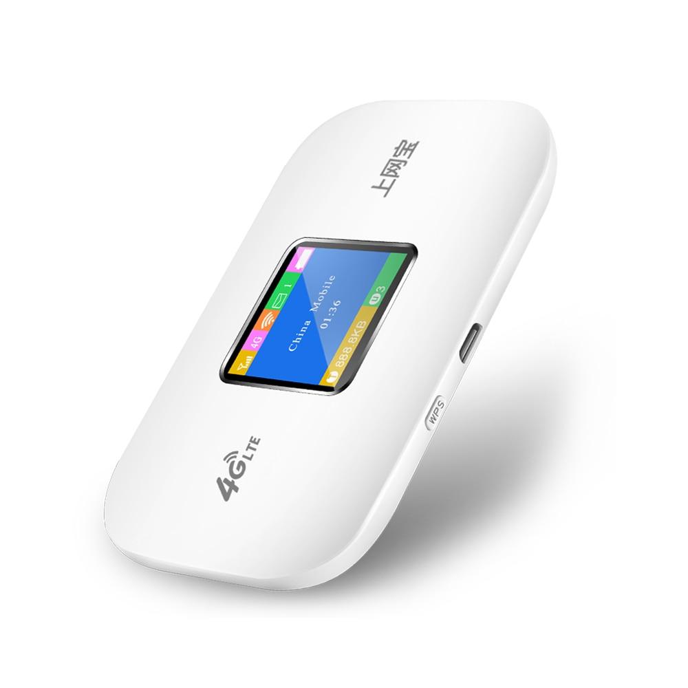 150 Mbps 4G Lte poche Wifi routeur voiture Mobile Wifi Hotspot sans fil haut débit Mifi débloqué Modem routeur 4G avec fente pour carte Sim