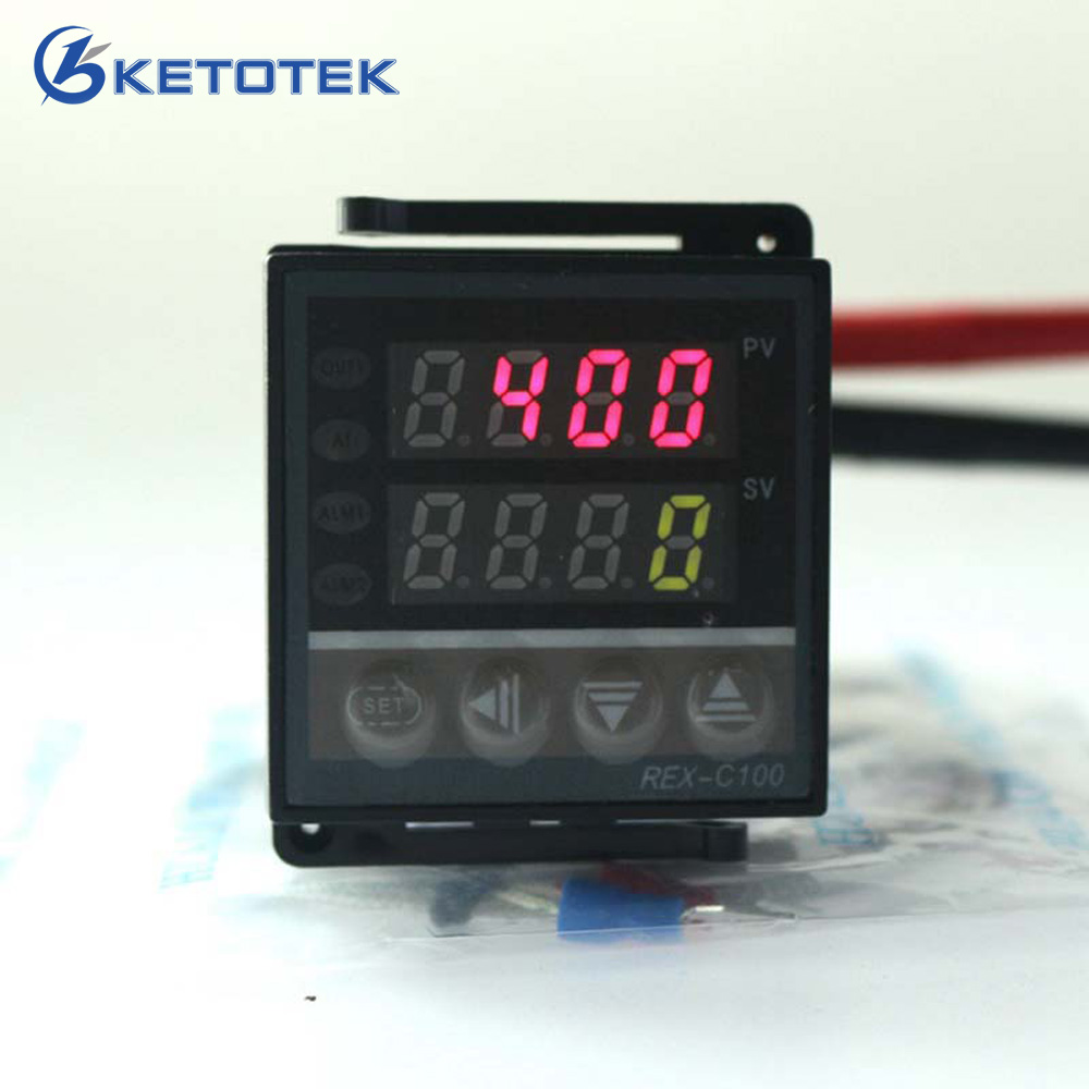 Digital Pid Thermostat Temperature Controller Regulator Rex C100 Wiring Diagram With Thermocouple K Proberelay Output In Instruments From Tools On