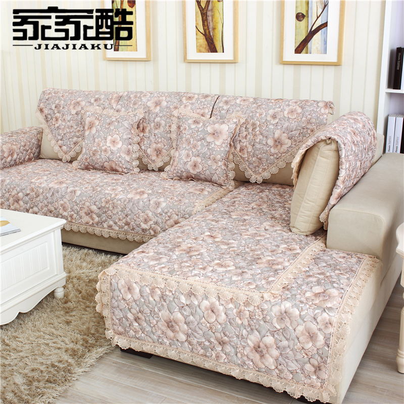 Jiajiaku Brand Cotton Sectional Sofa Cover Factory Customized Fabric Cushion Luxury Quilted Mat Furniture Slipcover Couch Slips In From Home