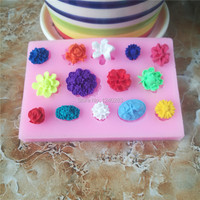 Many different flowers  shape  Cake Mold 3D Silicone Cake Mould For Cake Decorating Non-Stick Fondant Mold