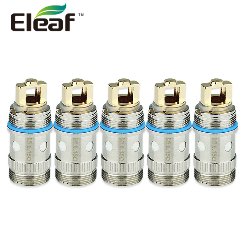 100% Original 5pcs Eleaf EC Head TC-Ti 0.5ohm & Ni 0.15ohm Atomizer Head for iJust 2/melo/melo 2/melo 3/melo 3 Mini/lemo 3