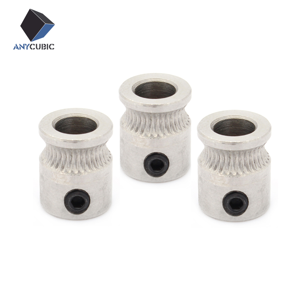 3pcs MK8 Drive Gear With M3 Screw Pulley 3d Printer Extruder Head For Reprap 1.75mm and 3mm Filament Wire Feed Wheel