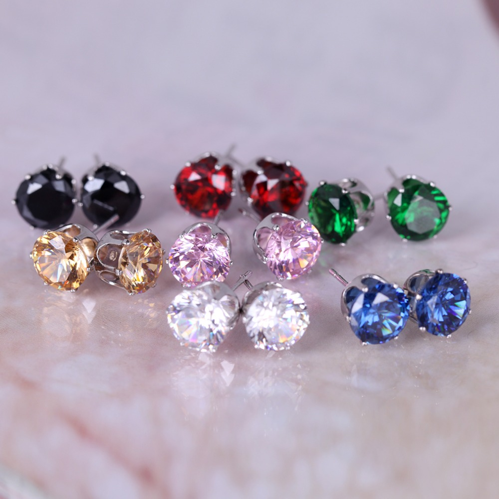 Aliexpress : Buy Ifreewill Office Style Design Cute Pretty Colourful  Crystal Gold Color Stud Earrings Hot Jewelry Gift Earrings For Women From  Reliable
