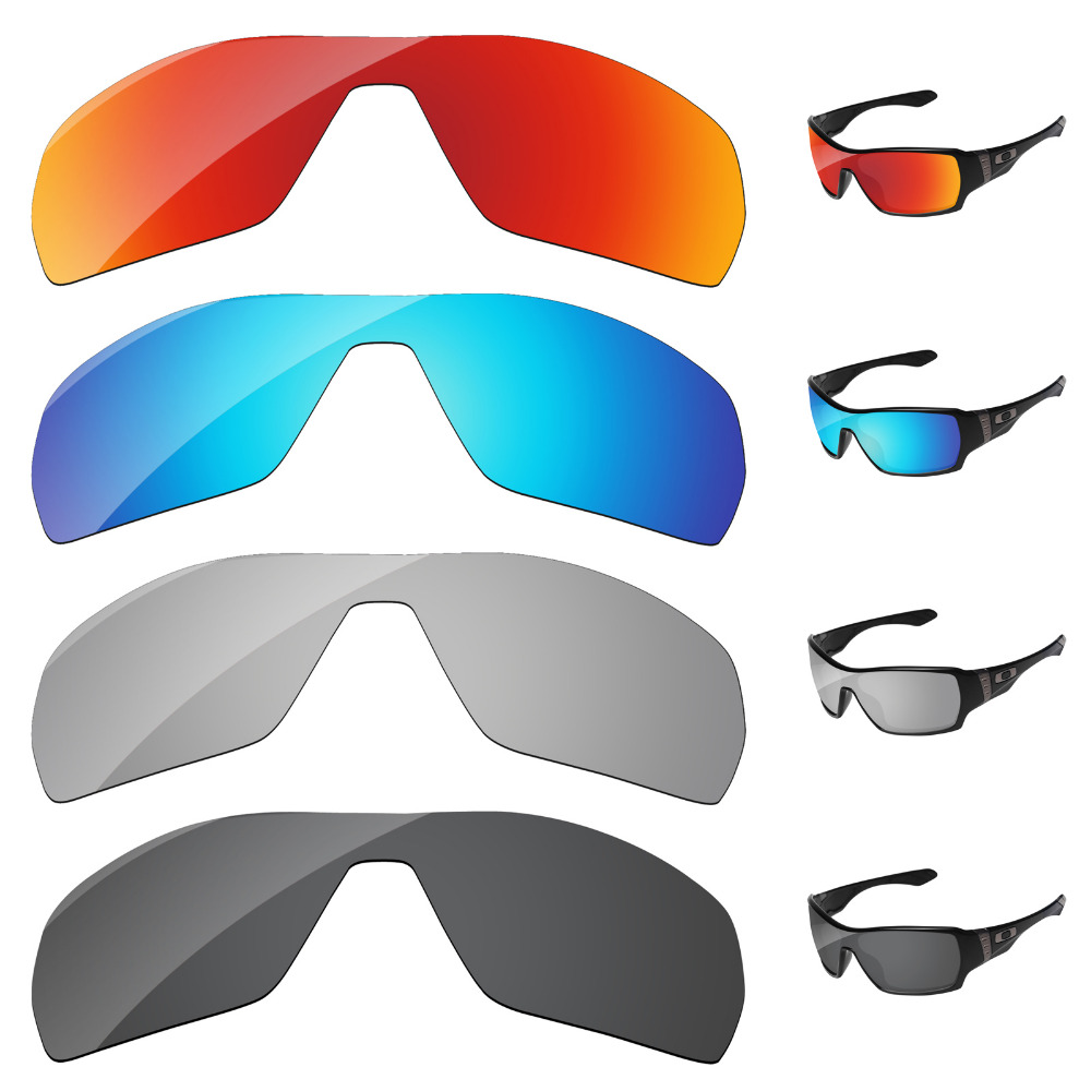 Black & Silver & Blue & Red 4 Paris Polarized Replacement Lenses For Offshoot Sunglasses Frame 100% UVA & UVB Protection