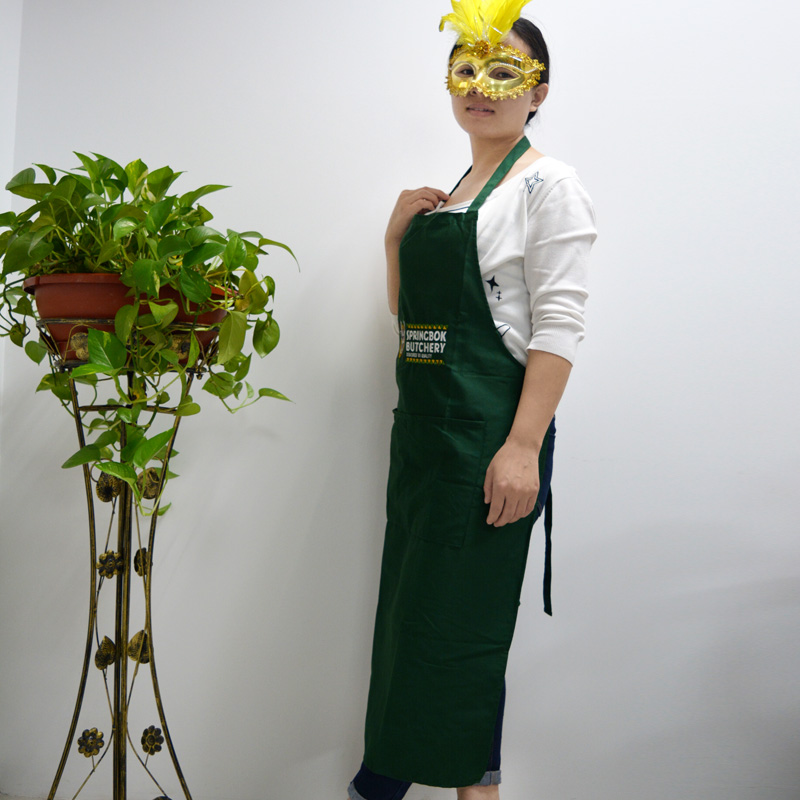 US $7 5 |Green Apron Chef Cooking Cafe Aprons Long Aprons For Men Women  Unisex Cooking Aprons For Women With Pockets Plus Size-in Aprons from  Novelty