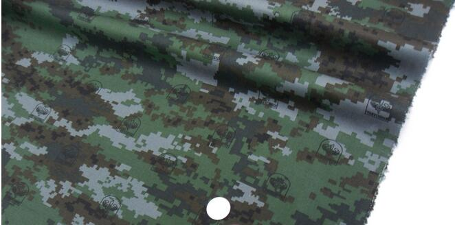 Camouflage green waterproof digital mosaic polyester cotton fabric ,Printing dyeing field troops clothing patches B3020