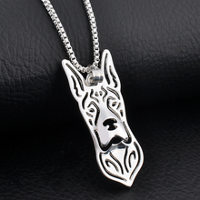 Boho Chic Alloy Great Dane Necklace Women Sliver Collier Femme Za Best Friend Gift Jewelry 1pc