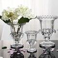 Mode kristall dekoration vase transparent hydrokultur getrocknete blumen dekoration verdickung glas handwerk Haus geschenk|decorative vase|vase transparenttransparent vase -
