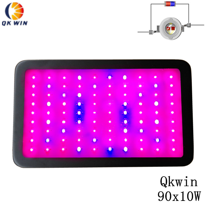 Qkwin 900W Double Chips LED Grow Light 90x10W Full Spectrum 410-730nm For Indoor Plants and Flower Very High Yield dropshipping