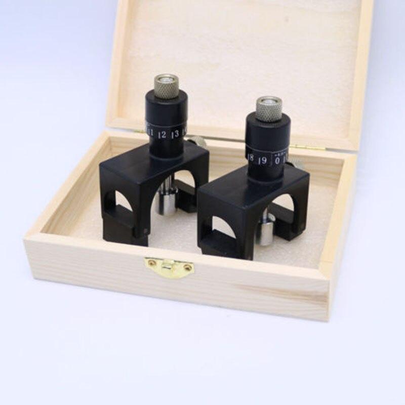 2 stücke Einstellbare Magnet Hobel Jointer Einstellung Jig Klinge Kalibrator Einstellung Jig Gauge Holzbearbeitung Cutter Kunststoff Werkzeug
