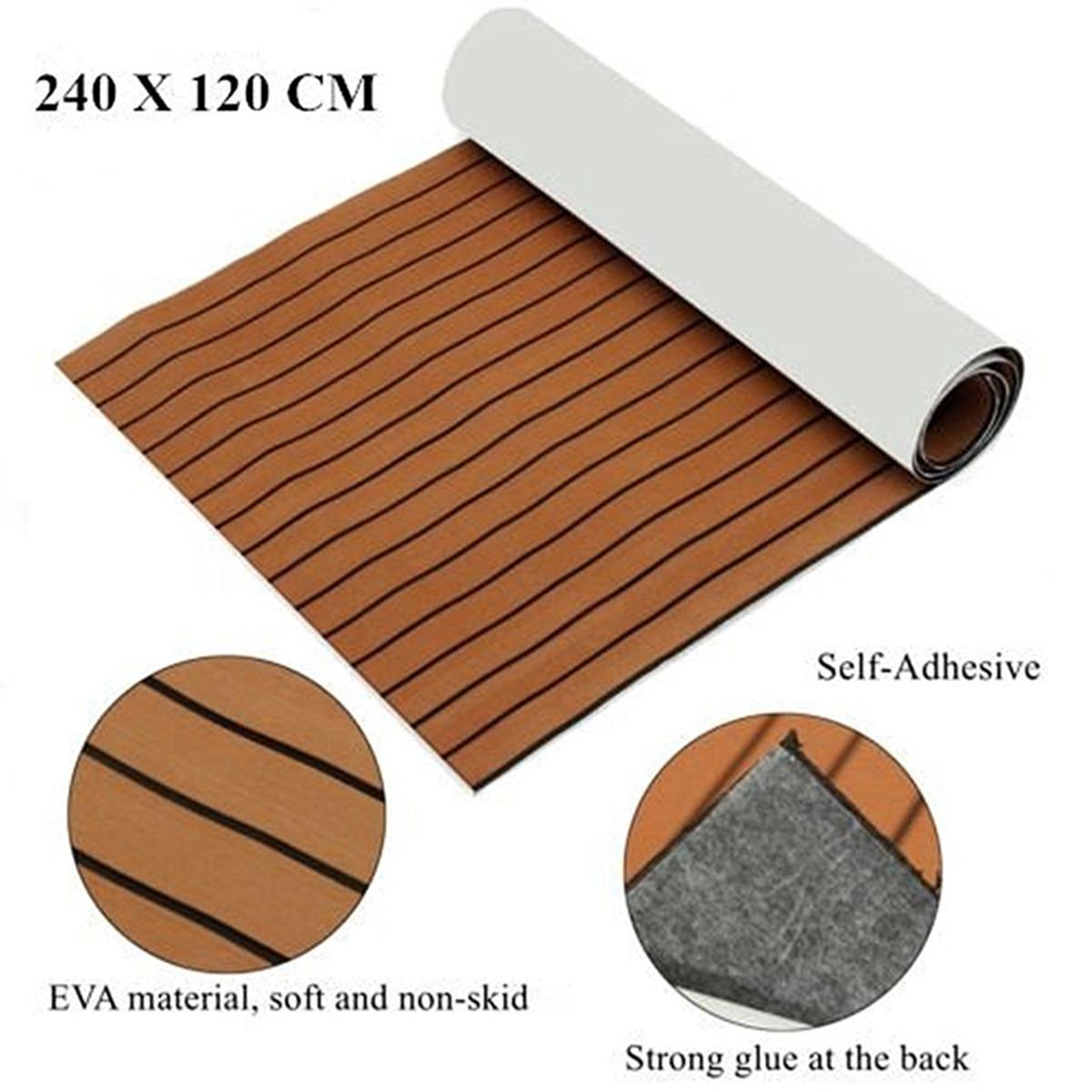 91/'/'x35.4/'x/'0.24/'/'Flooring Teak EVA Foam Boat Decking Sheet Marine Faux Brown