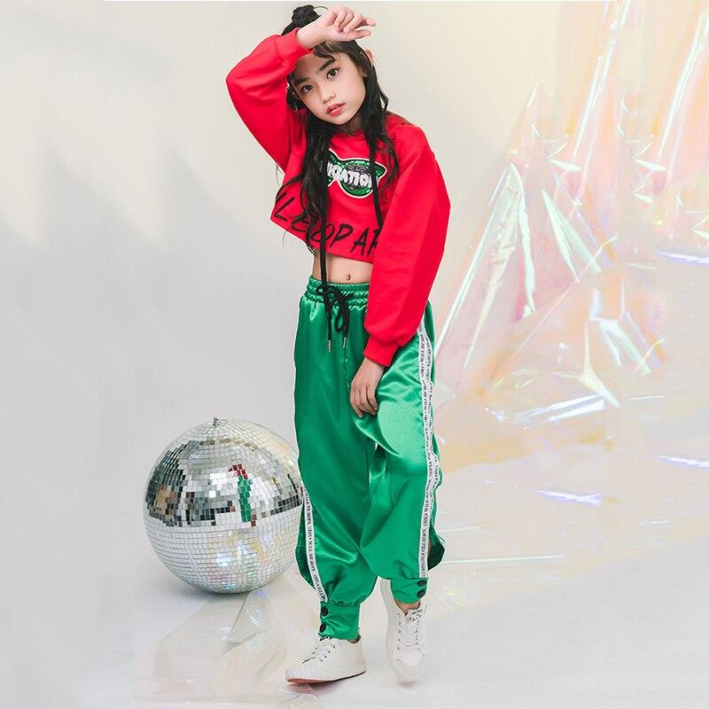 2019 New Jazz Costume Di Ballo Ragazzi Hip Hop Usura Delle Ragazze Allentate Passerella Marea Vestiti Dei Bambini Di Jazz Performance Di Danza Abbigliamento Dwy978
