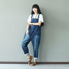 fcc865aa1b94 High Waist Jeans Woman Plus Size Denim Overalls for Women Loose Casual  Elegant Rompers Womens Jumpsuit Leotard Combinaison Femme