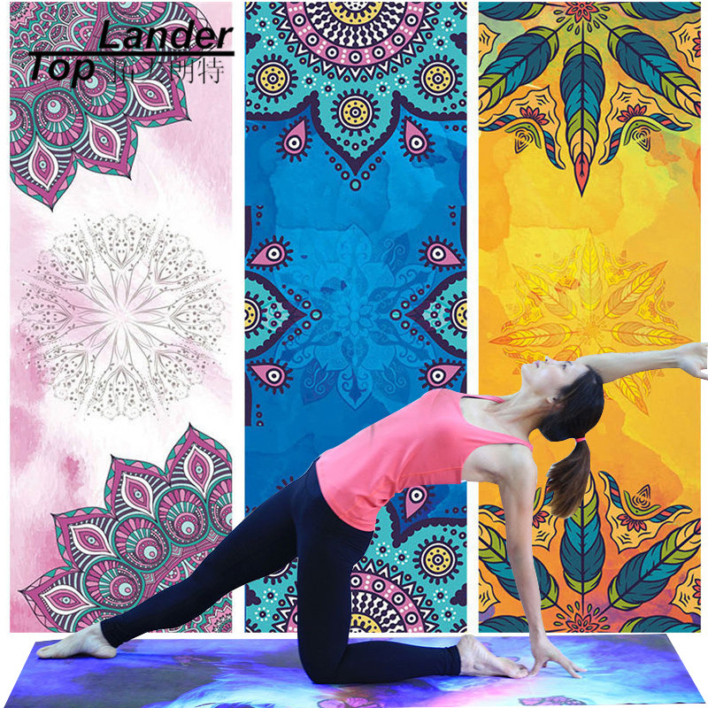Yoga Mat Towel Microfiber Non Slip Ultra Absorbent Towel Sport Fitness Gym Hot Bikram Tappeto Yoga Towel for Hot Yoga Microfiber ultrafine absorbent towel used to clean the car