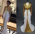 Moda Dubai Abaya 2016 Marroquí Caftán Ropa Islámica Turca para la Mujer Árabe Musulmán Indio de Manga Larga Vestidos de Noche