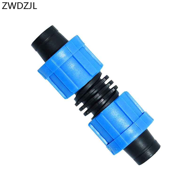 Irrigation drip tape Connector 16mm hose repair 5/8 inch 2 way Quick Connector Thread locking Extension joint 25pcs
