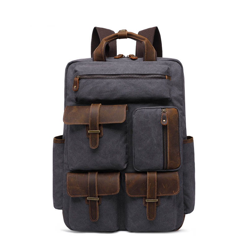 15.6 Inches Laptop Backpack High Quality Canvas School Bags Men Military Backpack Unisex Rucksack Casual Travel Satchel Bag unisex fashion denim travel backpack bags school bag rucksack casual retro lfy110