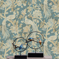 Beibehang 3D wallpaper Peacock southeast Asia style luxury 3d sitting room bedroom 3d wallpaper household adornment wall paper