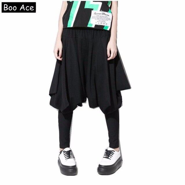 2017 Boo Ace Damenhosen Schwarz Jogginghose Baggy Harem Hosen Hip