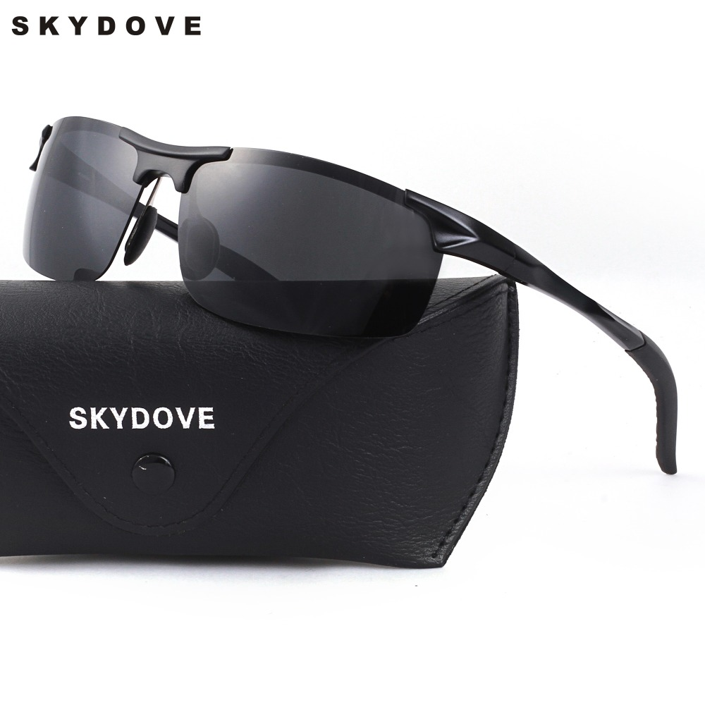 SKYDOVE Goggle Men sunglasses Luxury Brand Sport Men Sunglasses 2018 Aviator Aluminum Retro Sunglasses UV400 High Quality