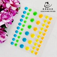 Sugar Sprinkles Self-adhesive Enamel Dots Resin Sticker for Scrapbooking/ DIY Crafts/ Card Making Decoration