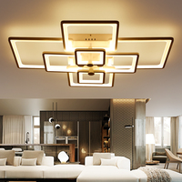 NEO Gleam Remote Control+Dimmable Modern LED Ceiling Chandelier For Living Study Room Bedroom Rectangle Modern Led Chandelier