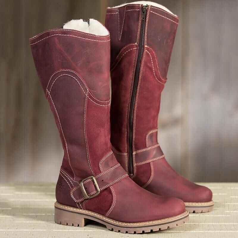 Yeni Yastıklama spor ayakkabılar Yüksek Kaliteli Kadın Sneakers Kış Sonbahar Kadın Şarap Kırmızı Kahverengi Yetişkin koşu ayakkabıları Kadın