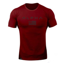 ALPHA 2018 New Brand clothing Tight t-shirt mens fitness