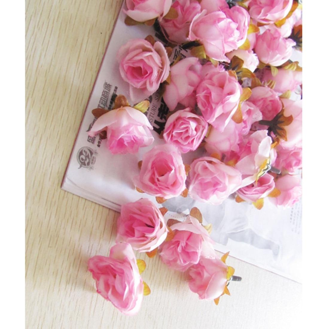 Rose Fai Da Te us $4.47 14% di sconto|100 pcs multi colore piccolo tea rose fai da te  fiore di rosa fiori di seta artificiale teste di fiori per la casa  decorazione