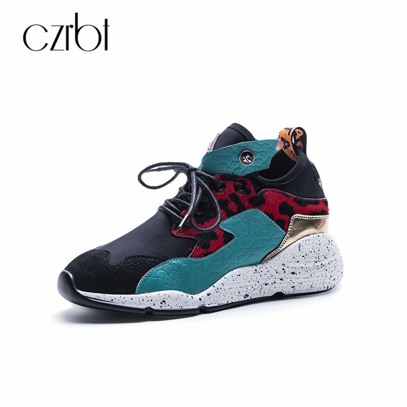 CZRBT Women Platform Sneakers Casual Shoes 2018 Spring Autumn Lace Up Shoes Plus Size Narrow Band Breathable Female Fashion Flat