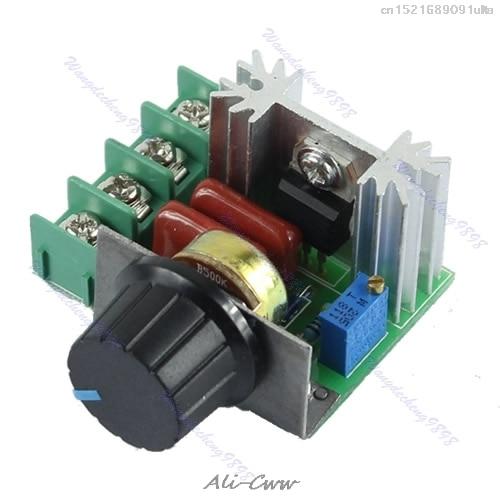 2018 Adjustable Voltage Regulator AC SCR Motor Speed Control Controller 220V 2000W
