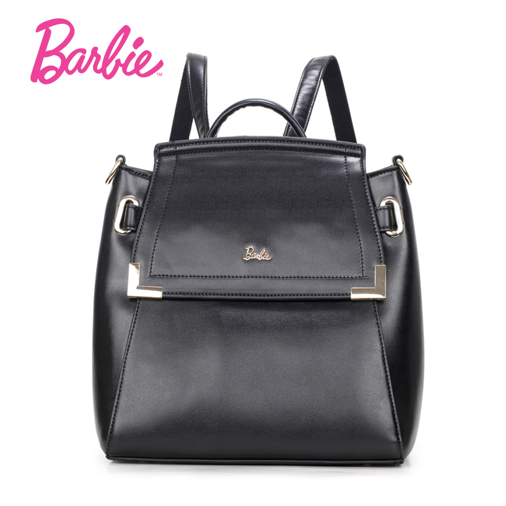 3e90bb560eaf Barbie Women backBags 2018 New girls black backpack Small Bag Fashion Trend  Brief Shoulder Bag For Ladies