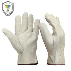 OZERO, новые мужские рабочие перчатки, козья кожа, защита безопасности, режущий рабочий ремонтник, гаражные гоночные перчатки для мужчин 0013