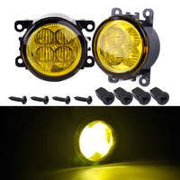 CITALL 2pcs Highlighted 3535 LED Fog Light Lamp with Yellow Lens for Ford Focus Fusion Acura Honda Mitsubishi Nissan FIAT Suzuki
