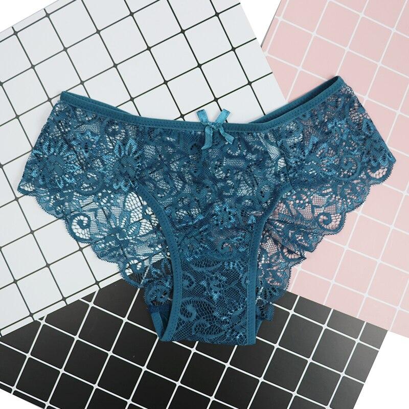 Plus Size S/XL Fashion High Quality Women's   Panties   Transparent Underwear Women Lace Soft Briefs 2019 dropship