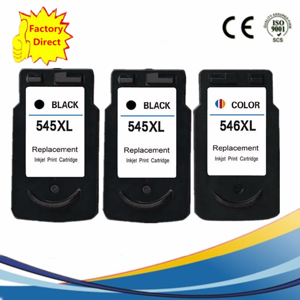 PG-545 XL PG 545 PG545 CL546 CL 546 CL-546 Ink Cartridges Remanufactured Pixma IP2850 MG2450 MG2455 MG2550 MG2950