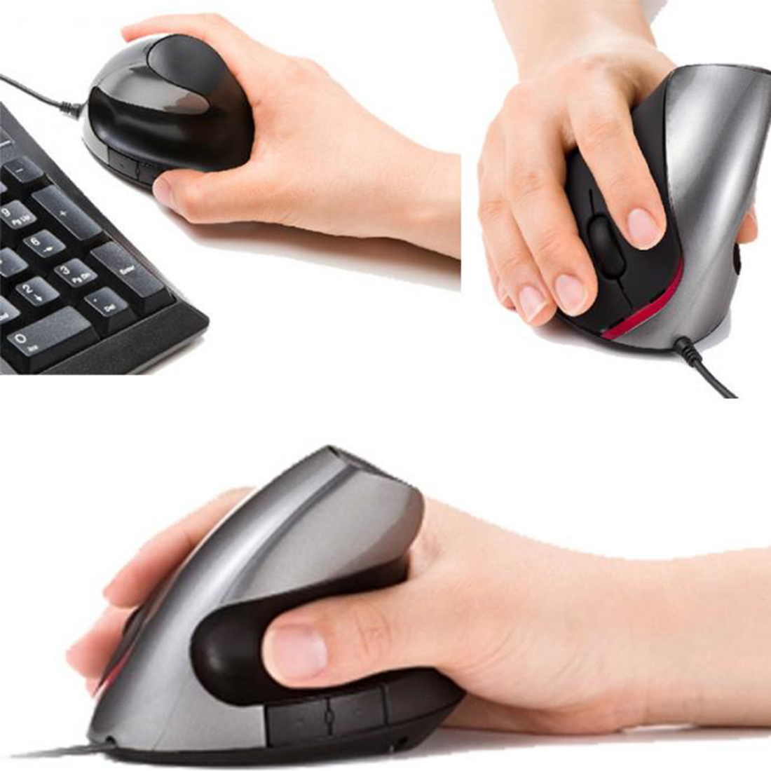 Etmakit New Ergonomic Design USB Vertical Optical Mouse Wrist Healing For Computer PC Laptop Desktop