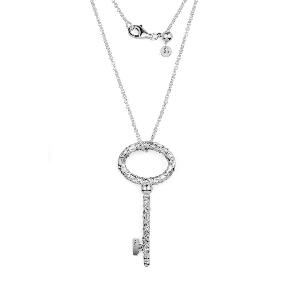 2018 automne nouvelle clé en argent collier Royal 925 pendentifs en argent sterling collier bricolage Original collier pour femme bijoux fins