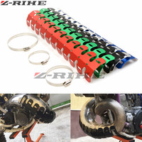 49cm Exhaust Cover Muffler Heat Shield Cover Heel Guard Exhaust Decorative Pipe For KTM RC 125
