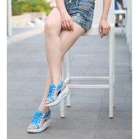 2017 Summer Women S Sandals Casual Mesh Breathable Shoes Women Comfortable Wedges Sandals Lace Platform Sandalias