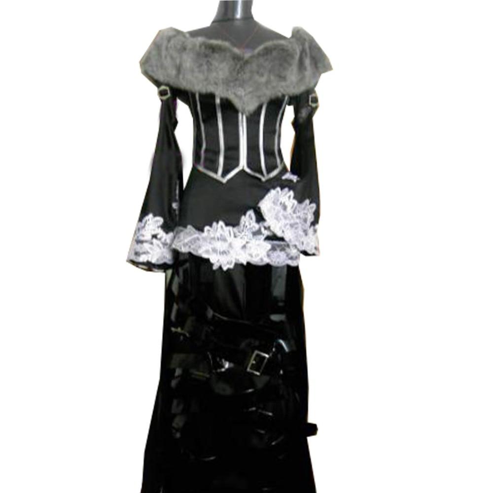2018 High Quality Role-playing Final Fantasy X 10 Lulu Cosplay Costume Women Dress Holloween Customize
