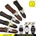 Correa de piel genuina para tissot 1853 t-classic reloj t035 couturier hombre correa de reloj 22mm 23mm 24mm t035627 t035407 t035617