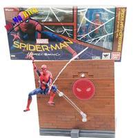 Spider Man Figura Homecoming Tamarshii Opzione Atto Della Parete Spiderman Action Pvc Figure Da Collezione Model